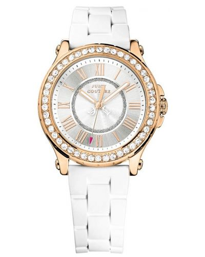 Womens Juicy Couture Pedigree rose gold white resin 1901052 Watch