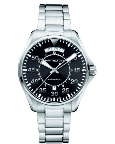 Mens Hamilton Khaki Aviation Pilot Day Date H64615135 Watch