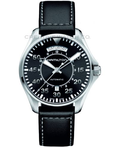 Mens Hamilton Khaki Aviation Pilot Day Date H64615735 Watch