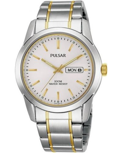 Mens Pulsar  Classic stainless steel gold highlighted PJ6023X1 Watch
