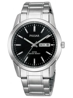 Mens Pulsar  Classic Stainless steel black PJ6021X1 Watch
