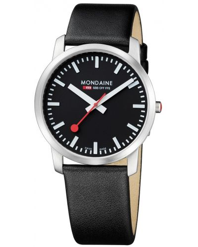 Mens Mondaine Simply Elegant 41mm Black Strap A638.30350.14SBB Watch