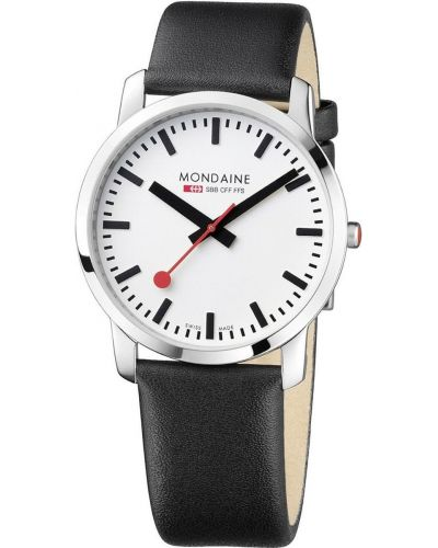 Mens Mondaine Simply Elegant 41mm Black Strap A638.30350.11SBB Watch