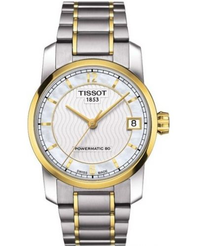 Womens Tissot Titanium Auto Powermatic 80 Two tone T087.207.55.117.00 Watch