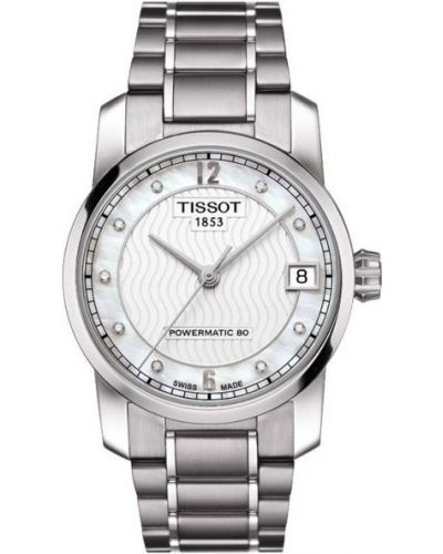 Womens Tissot Titanium Auto Powermatic 80 Diamond T087.207.44.116.00 Watch