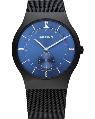 Mens Bering Classic Black stainless steel milanese 11940-227 Watch