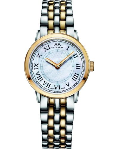 Womens 88 Rue Du Rhone 29mm Quartz Stainless Steel And Gold Mother Of Pearl 87WA120060 Watch