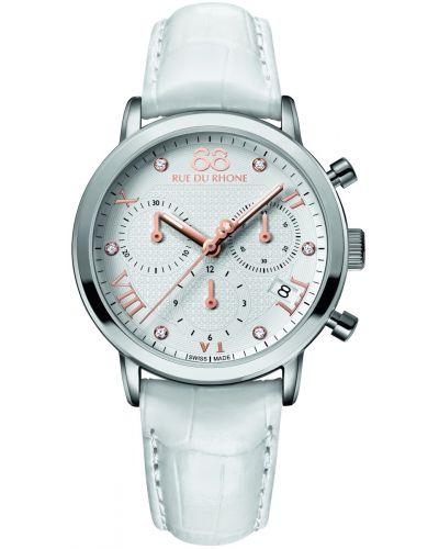 Womens 88 Rue Du Rhone 35mm Quartz Chronograph Diamond set leather strap 87WA130003 Watch