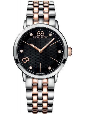 Womens 88 Rue Du Rhone 35mm Quartz Stainless steel and rose gold diamond set 87WA140003 Watch