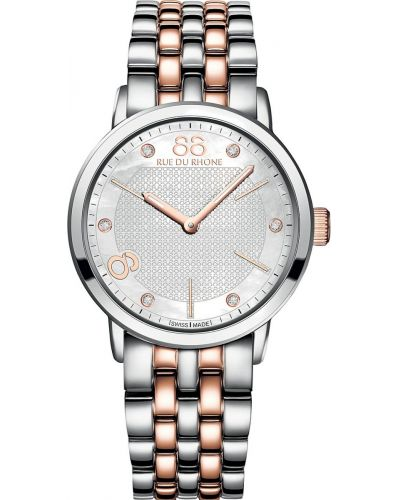 Womens 88 Rue Du Rhone 35mm Quartz Stainless steel and rose gold diamond 87WA140005 Watch