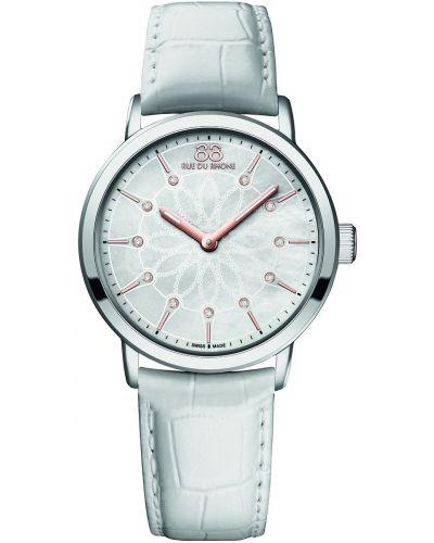 Womens 88 Rue Du Rhone 35mm Quartz Diamond set white leather strap 87WA140011 Watch