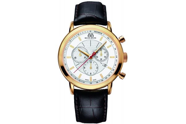 Mens 88 Rue Du Rhone 42mm Quartz Chronograph Watch 87WA120045