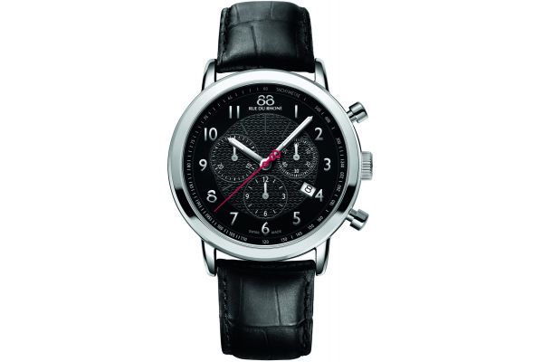 Mens 88 Rue Du Rhone 42mm Quartz Chronograph Watch 87WA120047