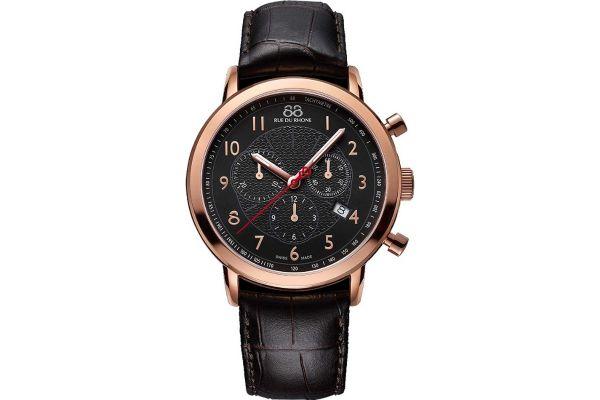 Mens 88 Rue Du Rhone 42mm Quartz Chronograph Watch 87WA120050
