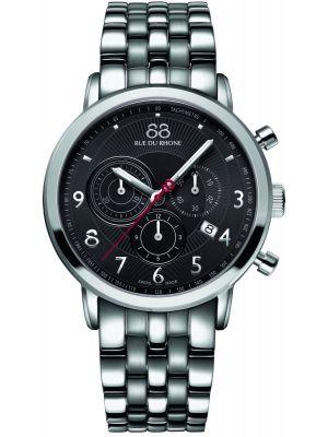 Mens 88 Rue Du Rhone 42mm Quartz Chronograph Grey stainless steel 87WA120055 Watch