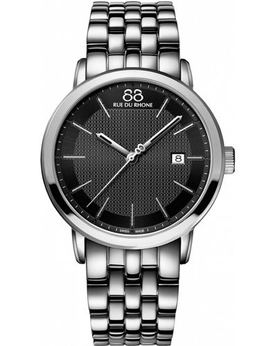 Mens 88 Rue Du Rhone 42mm Quartz Black stainless steel 87WA130011 Watch