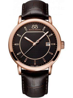 Mens 88 Rue Du Rhone 42mm Quartz Brown leather strap 87WA130013 Watch