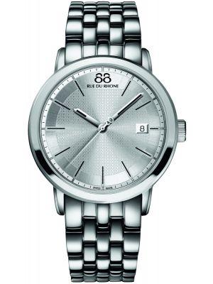Mens 88 Rue Du Rhone 42mm Quartz Silver stainless steel 87WA130016 Watch