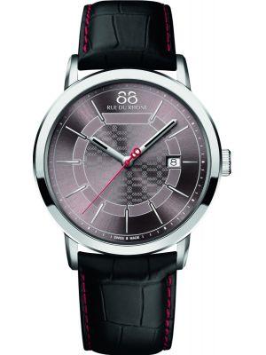 Mens 88 Rue Du Rhone 42mm Quartz Black leather strap 87WA140026 Watch