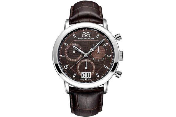 Mens 88 Rue Du Rhone 45mm Quartz Chronograph Watch 87WA130022