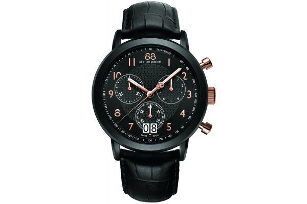 Mens 88 Rue Du Rhone 45mm Quartz Chronograph Watch 87WA130023