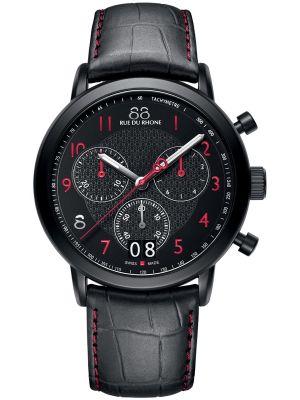 Mens 88 Rue Du Rhone 45mm Quartz Chronograph Matt black stainless steel 87WA130032 Watch