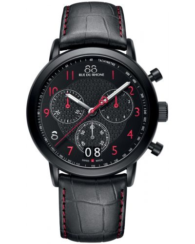Mens 88 Rue Du Rhone 45mm Quartz Chronograph Matt black stainless steel 87WA130032 Watch