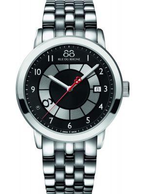 Mens 88 Rue Du Rhone 45mm Quartz Black diamond stainless steel 87WA140030 Watch