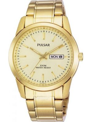 Mens Pulsar  Dress Wear gold stainless steel PJ6024X1 Watch