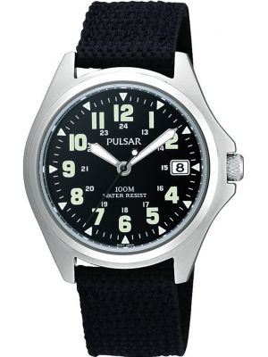 Mens Pulsar  Sports stainless steel military styled PS9045X1 Watch