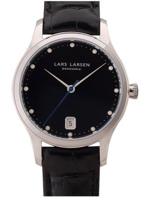 Womens Lars Larsen Clara Steel 139SBLBL Watch