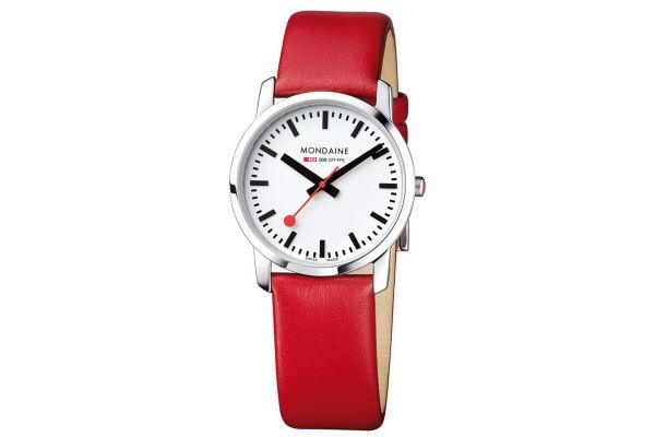 Womens Mondaine Simply Elegant Watch A400.30351.11SBC
