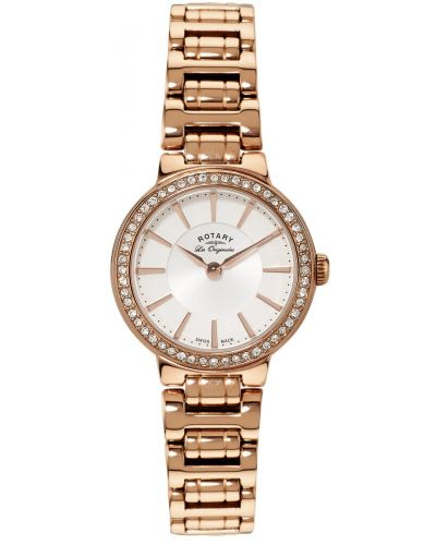 Womens Rotary Les Originales Rose gold crystal set LB90085/02 Watch