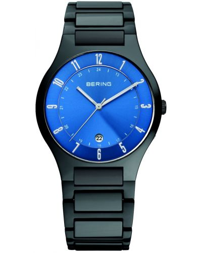 Mens Bering Titanium Grey and blue 11739-727 Watch