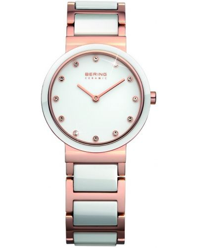 Womens Bering Ceramic rose gold dress 11429-766 Watch