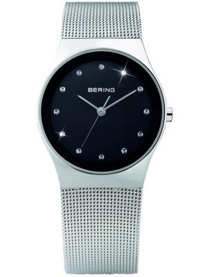 Womens Bering Classic black stainless steel milanese strap 12927-002 Watch