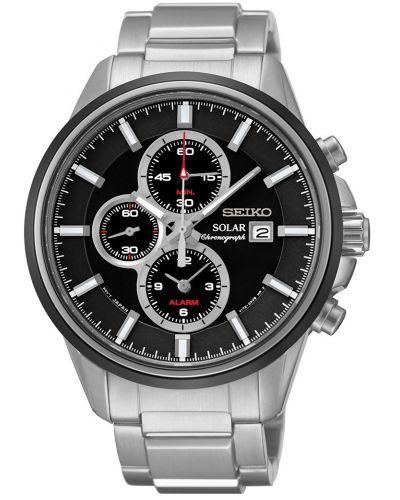Mens Seiko Solar Chrono alarm SSC255P1 Watch