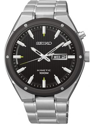 Mens Seiko Kinetic Day date sports SMY151P1 Watch