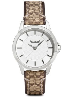 Womens Coach Classic stainless steel fabric strap 14501525 Watch