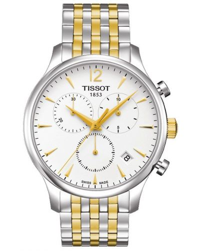 Mens Tissot Tradition Chronograph Two tone T063.617.22.037.00 Watch
