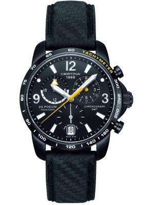 Mens Certina DS Podium GMT Chronograph Black C0016391605701 Watch