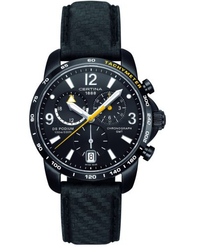 Mens Certina DS Podium GMT Chronograph Black C0016391605701 Watch