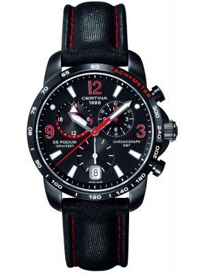 Mens Certina DS Podium GMT Chronograph Black C0016391605702 Watch
