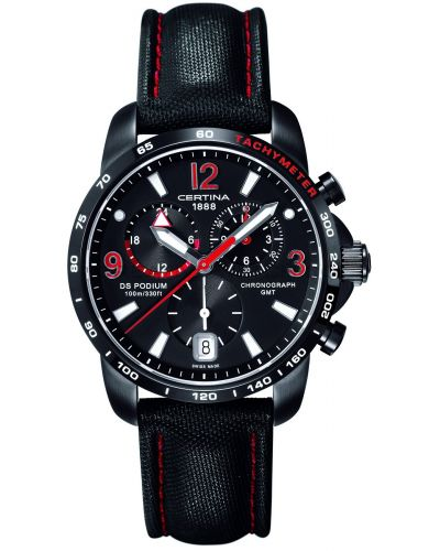 Mens Certina DS Podium GMT Chronograph Black C0016391605702 Watch