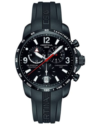 Mens Certina DS Podium GMT Chronograph Black C0016391705700 Watch