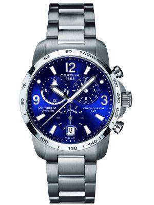 Mens Certina DS Podium GMT Chronograph Titanium C0016394404700 Watch
