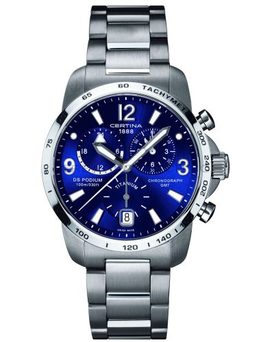 Mens Certina DS Podium GMT Chronograph Titanium C0016394404700 Watch
