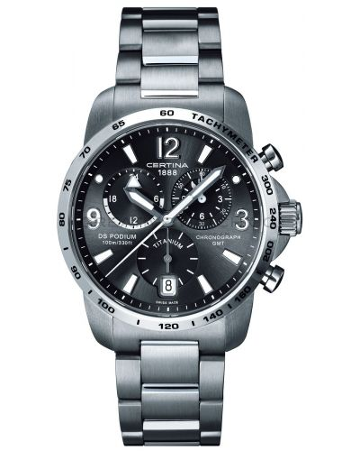 Mens Certina DS Podium GMT Chronograph Titanium C0016394408700 Watch