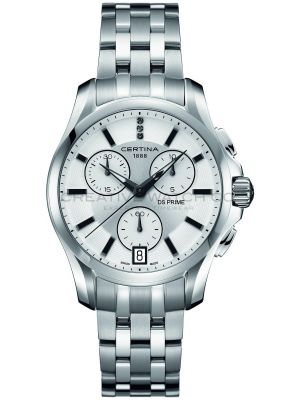 Womens Certina DS Prime Chronograph Diamond set stainless steel C0042171103600 Watch