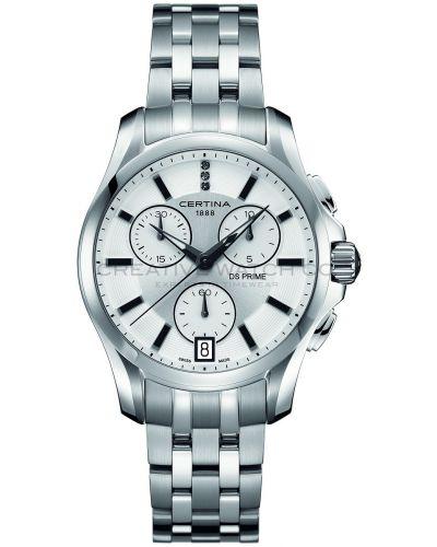 Womens Certina DS Prime Chronograph Diamond set stainless steel C0042171103600 Watch